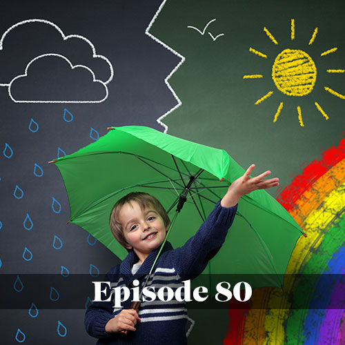 The Energy Bus School, Keystone Elementary, young student with an umbrella choosing to be an optimist