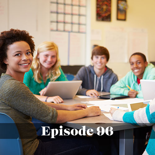 Diversity in public education, We Love Schools podcast, diverse group of high school students