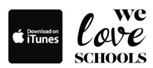 We Love Schools Podcast logo and iTunes link